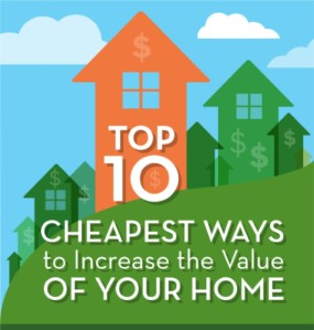 Top 10 cheapest ways to increase the value of your home for How to increase home value
